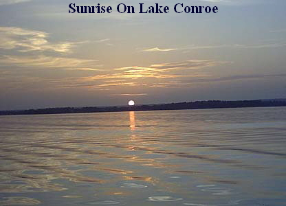 Lake conroe fishing guides solunar tables best times to for Lake conroe fishing