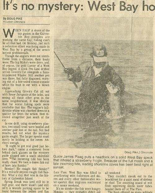 Pasadena tackle fishing bolivar guide jamaica beach rods for Lafayette reservoir fishing report